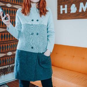 NWOT Boden Wool Color block jacket size: 8